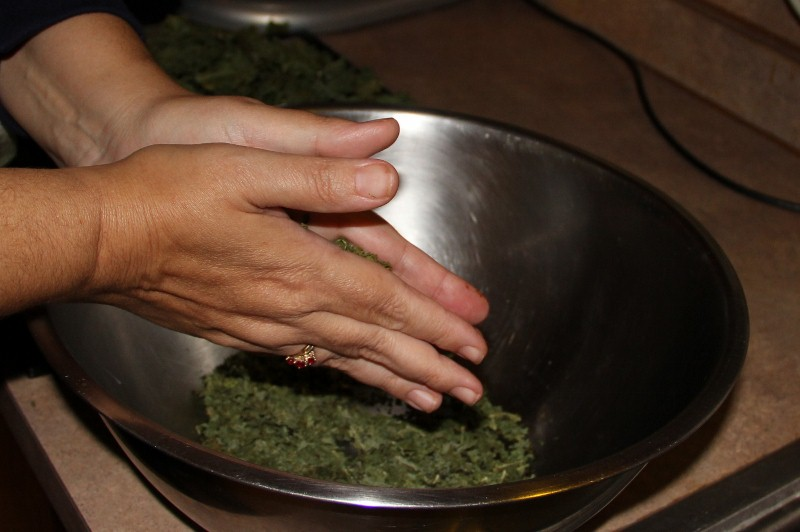 Dehydrating Greens(Kale) for Use in Soups, Smoothies and More